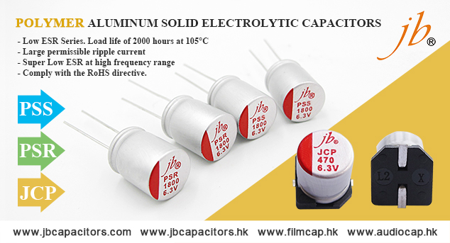 jb Capacitors Polymer Aluminum Solid Electrolytic Capacitors
