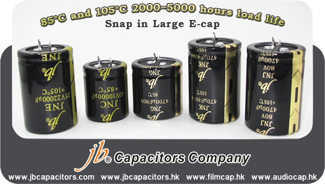 jb Capacitors-Snap in Large E-cap price is Much Better Now