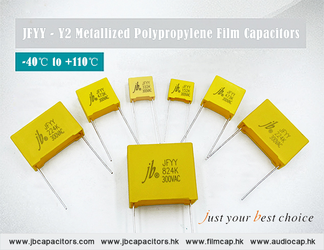 jb Capacitors JFYY Y2 Metallized Polypropylene Film Capacitors