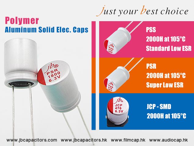jb Polymer Aluminum Solid Electrolytic Capacitors