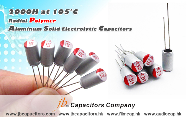 jb Capacitors Company-Radial Polymer Aluminum Solid Electrolytic Capacitors